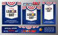Happy Labor Day Banner Set Royalty Free Stock Images - 98367159