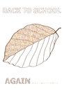 Autumn Vector Back To School Concept With Beech Leaf Sketch Stock Photos - 98367663
