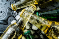 Beer In Bottles With Bubbles In Ice Cubes Closeup Royalty Free Stock Photos - 98372888