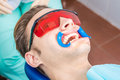 Dentist Checking Braces Mouth Dilator In Use. Stock Photography - 98396202