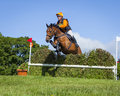 Horse Rider Competing In Cross Country Event. Royalty Free Stock Photo - 98400365