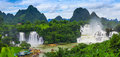 Panorama Of DeTian Waterfall Royalty Free Stock Photography - 98410297