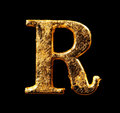 Alphabet And Numbers In Gold Leaf Stock Photo - 98414210