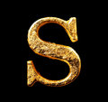 Alphabet And Numbers In Gold Leaf Royalty Free Stock Images - 98414239