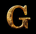 Alphabet And Numbers In Gold Leaf Stock Images - 98414464
