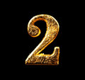 Alphabet And Numbers In Gold Leaf Stock Image - 98414511
