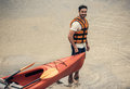 Man And Kayak Royalty Free Stock Images - 98424269