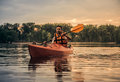 Man And Kayak Royalty Free Stock Image - 98424456
