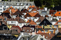 Roofs Of Houses Of Different Colors And Shapes In Bergen, Norway Royalty Free Stock Photo - 98437985