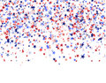 Red, Blue And White Stars On White Background, National USA Flag Royalty Free Stock Photography - 98491597