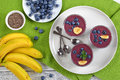 Smoothie With Blueberries, Chia And Banana Stock Photos - 98498123