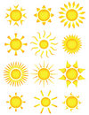 Sun Icons. Vector Illustration Royalty Free Stock Photos - 9852518
