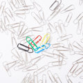 Different Paperclips On White Royalty Free Stock Images - 9853929