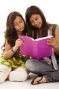 Two Young Student Sisters Stock Photos - 9855983