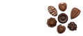 Chocolate Candies On A White Royalty Free Stock Photo - 98506965