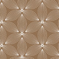 Linear Vector Pattern, Repeating Abstract Flower, White Line Of Leaf Or Flower, Floral. Royalty Free Stock Photography - 98511507