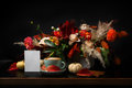 Autumn Bouquet On Black Background With Copy Space Royalty Free Stock Photos - 98511848