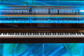 Piano Mechanism Through The Transparent Cover Royalty Free Stock Photos - 98519498