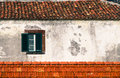 Detail From Traditional Old Portuguese Facade With Green And White Wooden Window Stock Images - 98527884