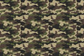 Camouflage Seamless Pattern Background. Horizontal Seamless Banner. Classic Clothing Style Masking Camo Repeat Print. Green Brown Stock Photos - 98530843