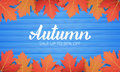 Autumn. Sale Banner With Maple Leaves Frame And Trendy Autumn Brush Lettering. Seasonal Fall Sale Card Royalty Free Stock Images - 98552339