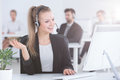 Call Center Agent Using Computer Royalty Free Stock Images - 98553489