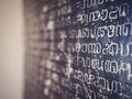 Stone Inscription Alphabet History Ancient Letter Texture Royalty Free Stock Image - 98554906