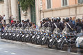 Police Officers With Motorcycles Stand In Raw. Stock Photo - 98558460