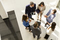 Top View Of Group Young Business People In The Modern Office Stock Image - 98585201