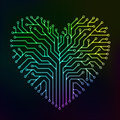 Circuit Heart With Multicolor Stock Photos - 98595173
