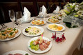 Food At Banquet Table Stock Images - 9868334