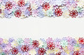 Embroidery Colorful Flowers Pattern Texture And Background  For Stock Photos - 98607773
