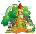 Fairytale Scene With Knight And Princess Stock Image - 98612691