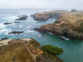 Aerial Image Of Beautiful Coastline In Northern California Stock Photos - 98644783