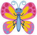 Butterfly With Pink Wings Royalty Free Stock Image - 98654216