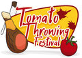 Ham, Soaped Stick And Tomato For Tomatina Festival, Vector Illustration Royalty Free Stock Photos - 98654708