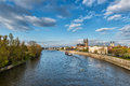 Magdeburg - Wide View On The Cathedral And River Elbe, Daytime Landscape, Saxony, Germany Royalty Free Stock Images - 98669439