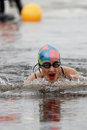 Winter Swimming Competitions Royalty Free Stock Images - 98699229