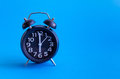 Alarm Clock With Six O`clock Royalty Free Stock Images - 98720609