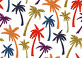 Seamless Pattern With Trendy Tropical Summer Motifs, Exotic Leaves And Plants. Royalty Free Stock Photos - 98731868