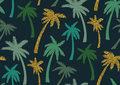 Seamless Pattern With Trendy Tropical Summer Motifs, Exotic Leaves And Plants. Stock Image - 98732121
