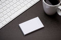 Corporate Stationery Branding Mock-up With Business Card Blank Stock Photos - 98737933