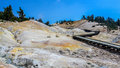 Bumpass Hell Boardwalk At Lassen Volcanic National Park Royalty Free Stock Image - 98752136