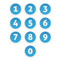 Number Set Circle Button Stock Image - 98752541