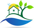 Home, Tree, Logo, House, Clean Environment Lifestyle Vector Symbol Icon Design. Stock Photography - 98768622