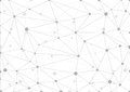 Abstract Grey Geometric Background With Chaos Of Connected Lines And Dots. Royalty Free Stock Image - 98769676