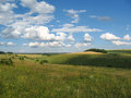The Summer Rural Landscape Amidst Beautiful Clouds Royalty Free Stock Photo - 98794525