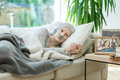 Woman Waiting For Cancer Remission Stock Photography - 98798212