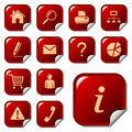 Web Icons On Sticker Buttons Stock Images - 9882624