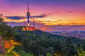 Sunset At Seoul City And Namsan Tower ,South Korea Royalty Free Stock Photo - 98832005